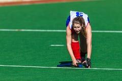 Hockey Girl Corner Stopper Royalty Free Stock Photography
