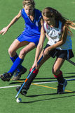 Hockey Girls Ball Challenge Royalty Free Stock Photography