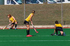 Hockey Girls Short Corner Colors Stock Images
