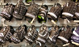 Hockey gloves Royalty Free Stock Photography