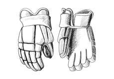 Hockey gloves Stock Photos