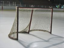 Hockey goal. On the ice Royalty Free Stock Photos
