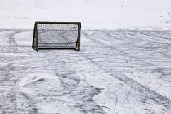 Hockey goal. A Goal on a Ice-Hockey Field Stock Images