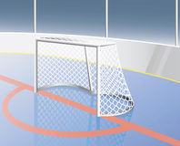 Hockey goal. Stock Photos