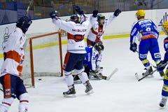 Hockey goal Stock Photography