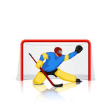 Hockey goal keeper Stock Image