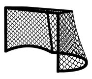 Hockey goal silhouette. royalty free stock image