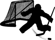 Hockey Goalie Stock Afbeeldingen