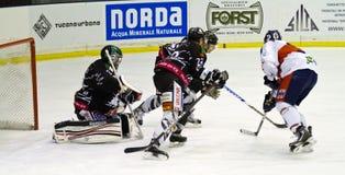 Hockey goalie Stock Image