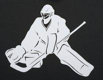 The hockey goalie Stock Photo