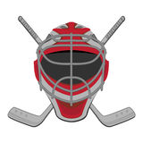 Hockey goalie. Ice Hockey Goalie Mask Sticks Stock Image