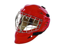 Hockey Goalie Mask. Goalie mask on white background royalty free stock photography