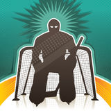 Hockey goalkeeper Stock Images