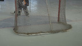 Hockey Goalkeeper on Ice stock video footage