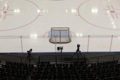 Hockey goals Stock Photography