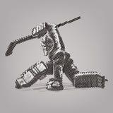 Hockey goaltender. Royalty Free Stock Images