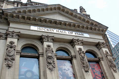 Hockey Hall of Fame facade in Toronto, Canada Royalty Free Stock Photo