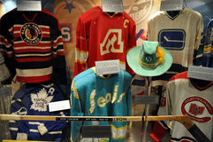Hockey Hall of Fame sweaters stock image