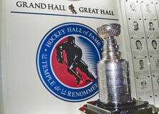 Hockey-Hall of Fame und Stanley Cup in der großen Halle lizenzfreies stockbild