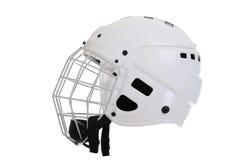 Hockey helmet. Hockey player helmet. Isolated on white background royalty free stock image