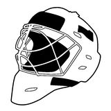 Hockey helmet isolated vector. Illustration, goalie mask Royalty Free Stock Image