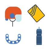 Hockey helmet and kappa, water bottle vector illustration. Stock Images