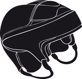 Hockey helmet Stock Image