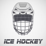 Hockey Helmet sketch. Classic Goalie Hockey Helmet sketch style. Ice and Grass Field sport. Vector Illustration  on background Stock Images