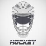 Hockey Helmet sketch. Goalie Hockey Helmet sketch style. Ice and Grass Field sport. Vector Illustration  on background Stock Photography