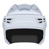 Hockey helmet. White hockey helmet on a white background Royalty Free Stock Images