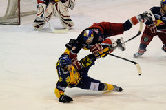 hockey hit Stock Images