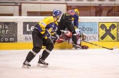Hockey hit Stock Photography