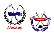 Hockey and Ice Hockey emblems or symbols Stock Photography