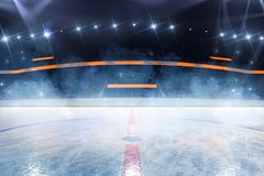 Free Hockey Ice Rink Sport Arena Empty Field Royalty Free Stock Photography - 149880777