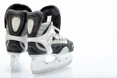 Hockey ice skate. Close up view, on white, of ice skate for hockey of freestyle use royalty free stock photography