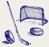 Hockey icon. Doodle style. Vector Royalty Free Stock Photography