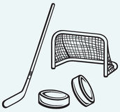 Hockey icon Royalty Free Stock Image