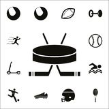 Hockey icon. Detailed set of Sport icons. Premium quality graphic design sign. One of the collection icons for websites, web desig. N, mobile app on white Royalty Free Stock Images