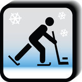 Hockey  icon Royalty Free Stock Photography
