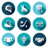 Hockey icon set Royalty Free Stock Image
