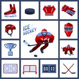 Hockey Icon Set Stock Image