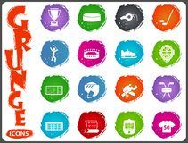 Hockey icon set. Hockey symbol icons for user interface design Royalty Free Stock Photography