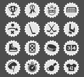 Hockey icon set. Hockey web icons for user interface design Stock Photography