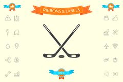 Hockey icon symbol. Hockey icon . Signs and symbols - graphic elements for your design Royalty Free Stock Images