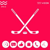 Hockey icon symbol. Hockey icon . Signs and symbols - graphic elements for your design Stock Images