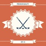 Hockey icon symbol. Hockey icon . Signs and symbols - graphic elements for your design Stock Photos