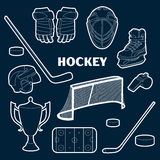Hockey icons set Royalty Free Stock Photos