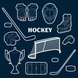 Hockey icons set Royalty Free Stock Photos
