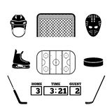 Hockey icons Stock Photography