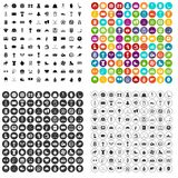 100 hockey icons set vector variant. 100 hockey icons set vector in 4 variant for any web design isolated on white Stock Photos